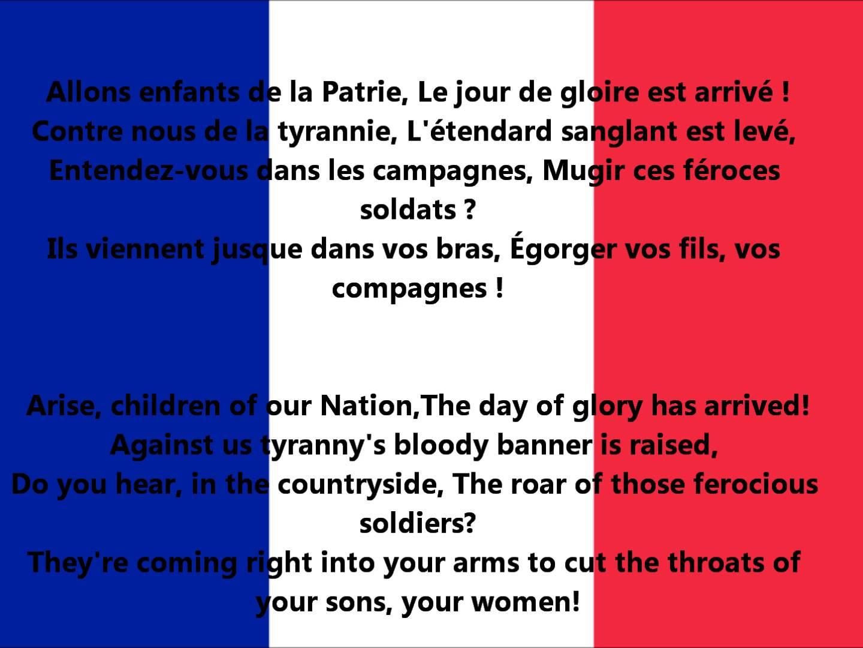 France National Anthem Video And Lyrics La Marseillaise