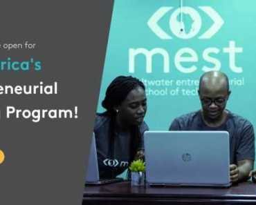 MEST Africa Entrepreneurial Training Program 2019