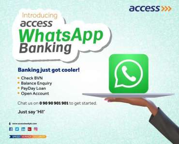 How To Setup & Use Access Bank WhatsApp Banking