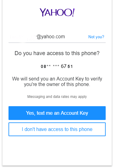 yahoo email verification form 2