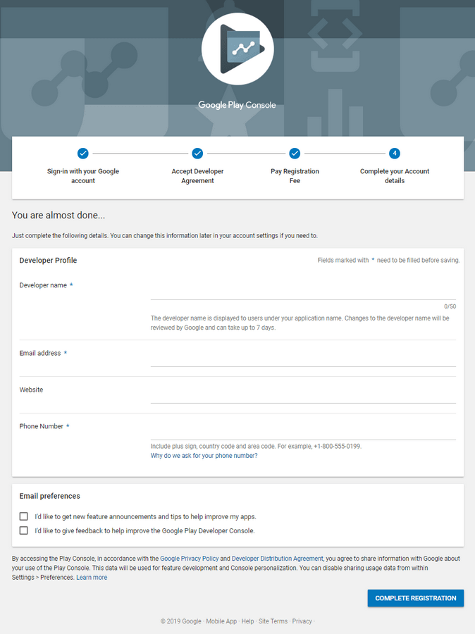 Google developer form 3