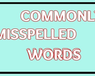 Commonly Misspelled Words