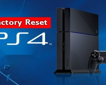 PS4 Factory Reset