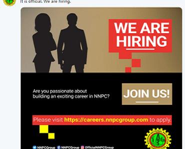 NNPC Recruitment application 2019