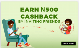 Screenshot Jumia one App cashback