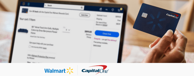 Capital One Walmart Credit Card banner