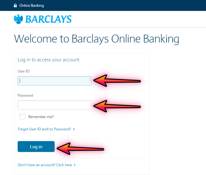 barclays login Online banking account image