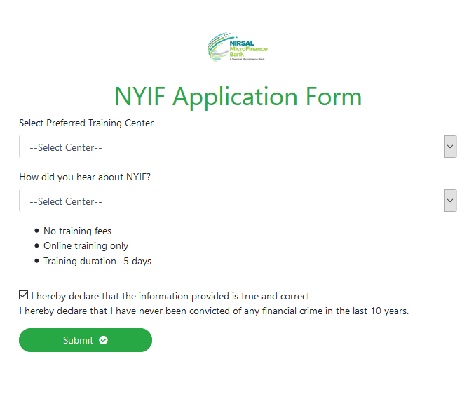 NYIF Application Form 4