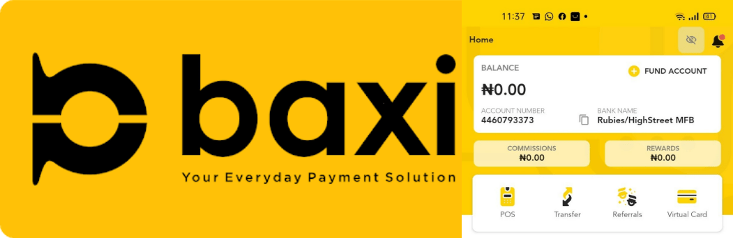 baxi mobile agent account