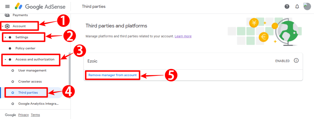 How to Remove Third-Party Access To Your AdSense Account 1