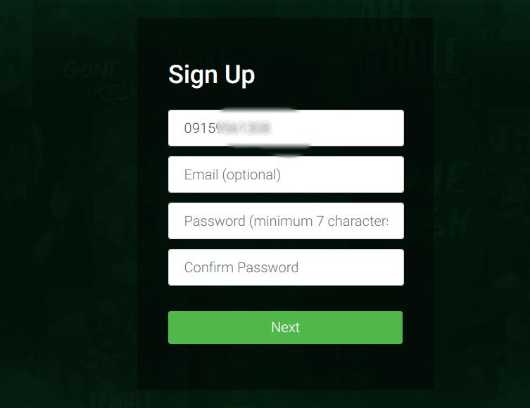 glo tv register sign up form 2