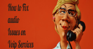 how to fix audio issue in Voip services