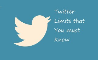 Must Know Twitter limits