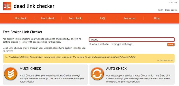 dead link checker - top free broken link checker site