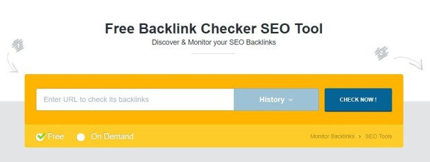 Monitorbacklinks - free backlinks checker tools