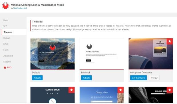 Minimal Coming Soon & Maintenance Mode Plugin Dashboard