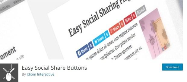 social warfare alternatives - Easy Social Share Button