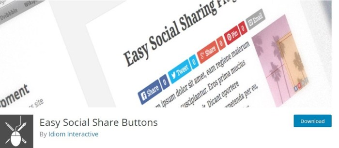 social warfare alternatives - Easy Social Share Button