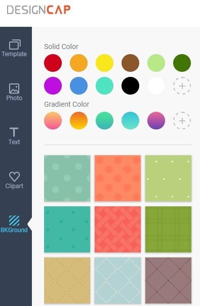 DesignCap Review - Background Option