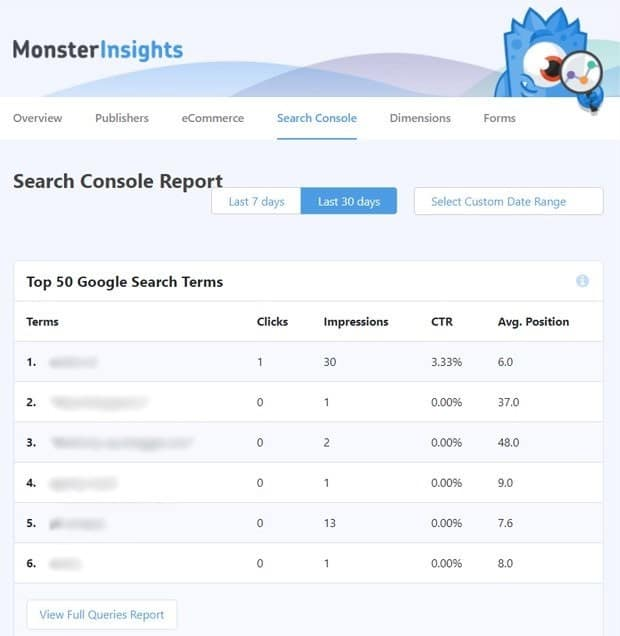 Top-Search-Terms-Using-MonsterInsights