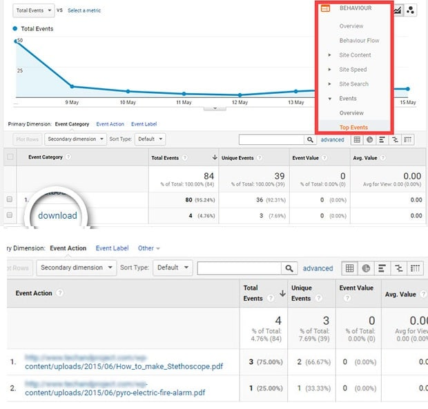 View File Downloads in Google Analytics