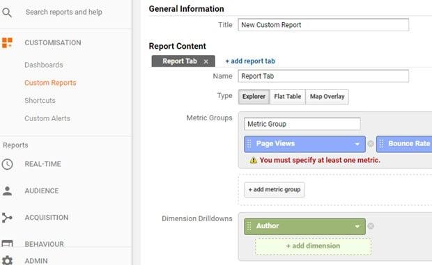 custom reports customization