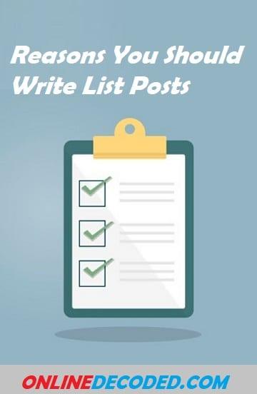 9 Reasons You Should Write List Posts