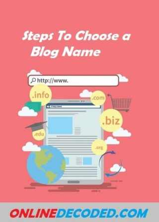 Steps to choose a blog name