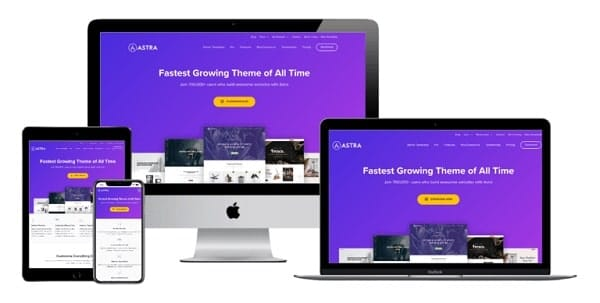 Astra for eCommerce sites - Responsive Design