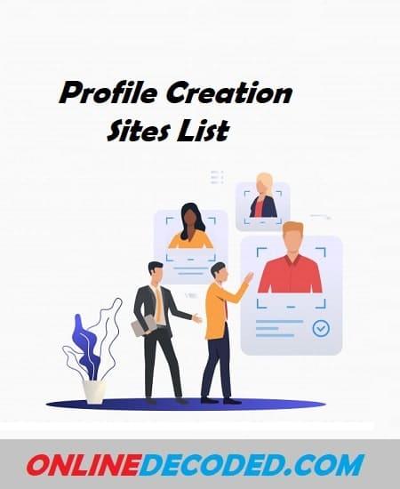 High Authority Profile Creation Sites List