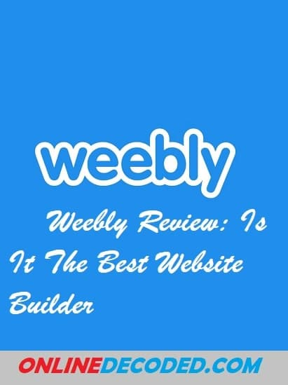 Weebly Review - Pinterest Image