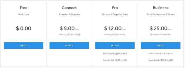 Weebly Review - Weebly Pricing Details
