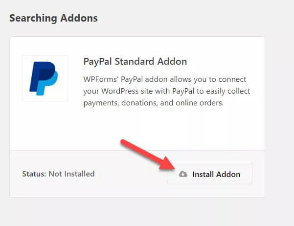 activate paypal addon