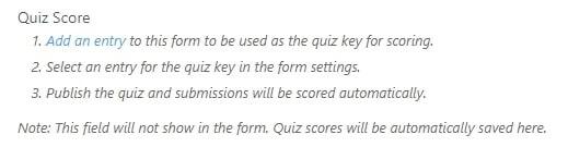 quiz score