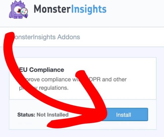 Install EU Compliance Addon