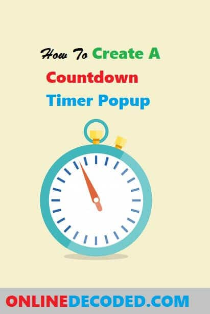 How to Create A Countdown Timer Popup to Boost Sales in 2020?