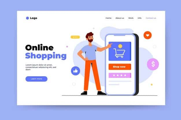 e-commerce Home page features