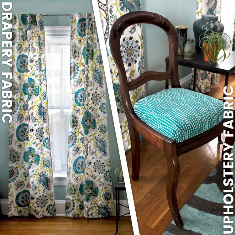 drapery fabric vs upholstery fabric