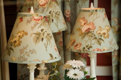 How to cover lampshades with fabric onlinefabricstore blog light and medium weight drapery fabrics are ideal for this type of project a fabric that you love from braemore covington laura ashley p kaufmann aloadofball Images