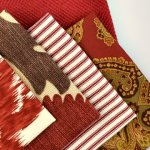 Fabric:  luscious red decor fabrics will add some spice to your decorating