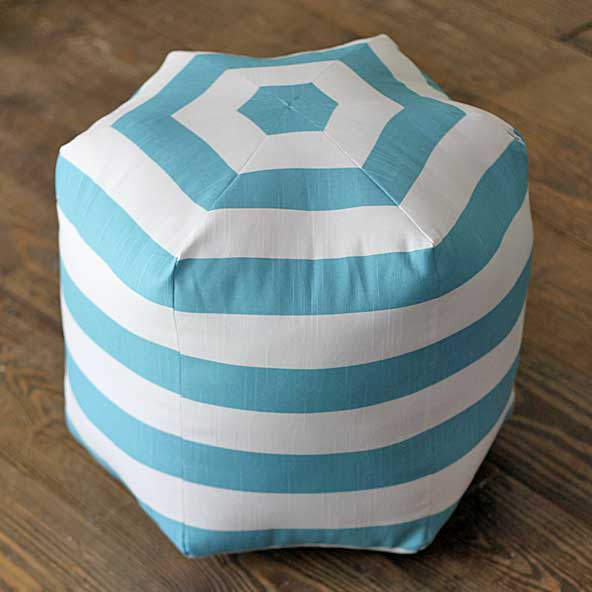 striped-DIY-floor-pouf