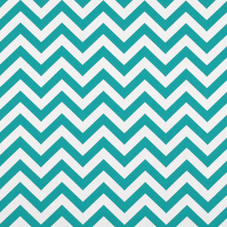Premier Prints Zig Zag True Turquoise Fabric