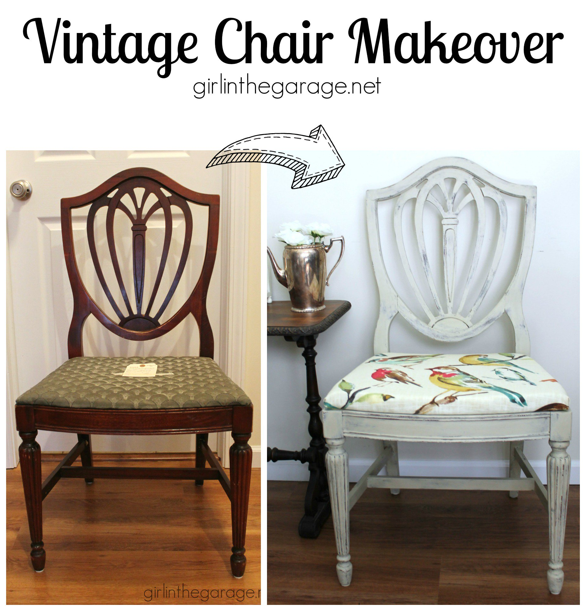 Vintage Chair Before & After lineFabricStore Blog