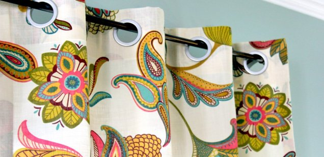 No Sew Grommet Curtains Tutorial