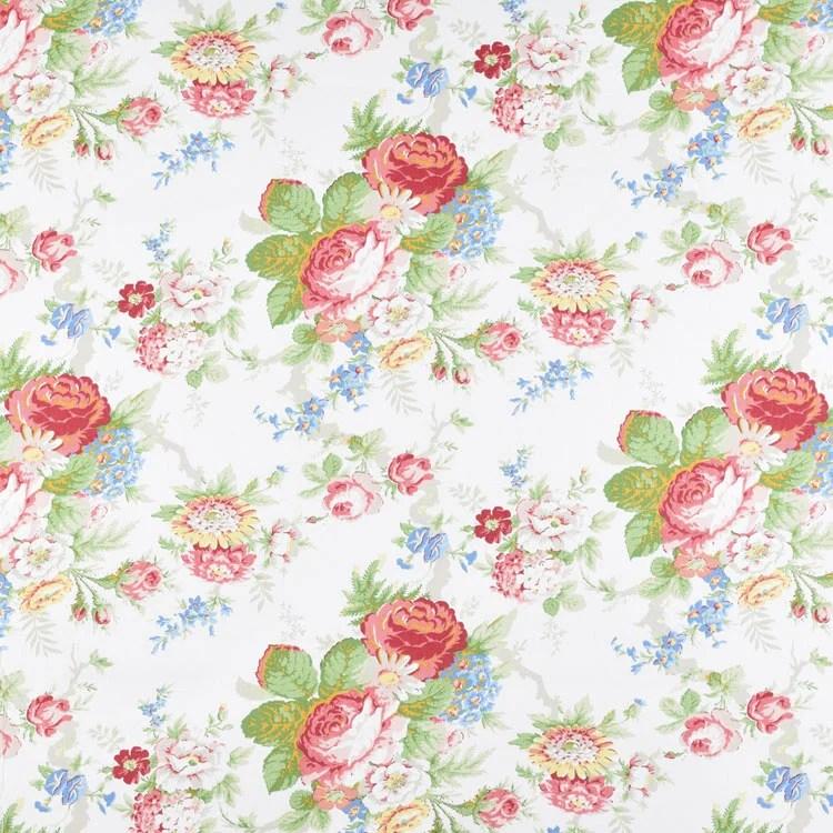 Ralph Lauren Garden Club Floral White Fabric