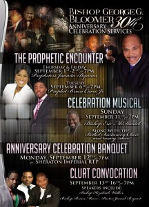 Bishop George Bloomer 30th Anniversary Celebration September 1 – 16, 2011