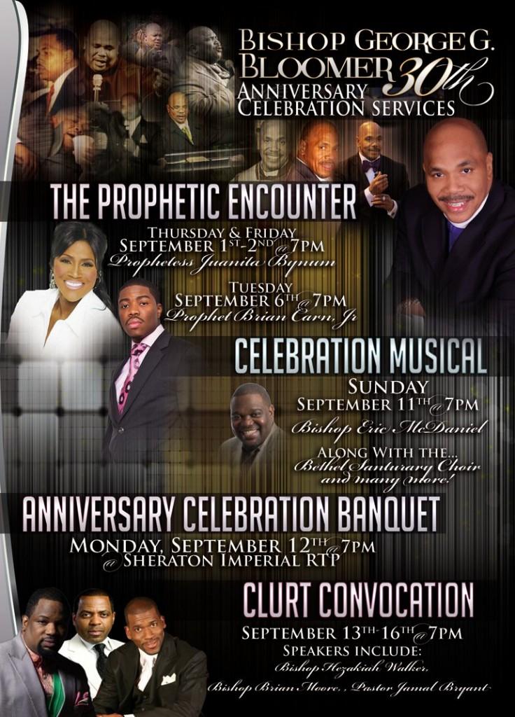 Bishop George Bloomer 30th Anniversary Celebration September 1 – 16, 2011