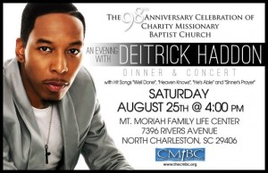 Deitrick Haddon – Dinner and Concert