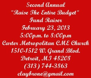 "Second Annual ""Raise The Entire Budget"" Fundraiser"