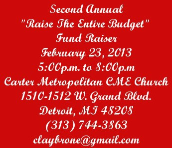 """Second Annual """"Raise The Entire Budget"""" Fundraiser"""
